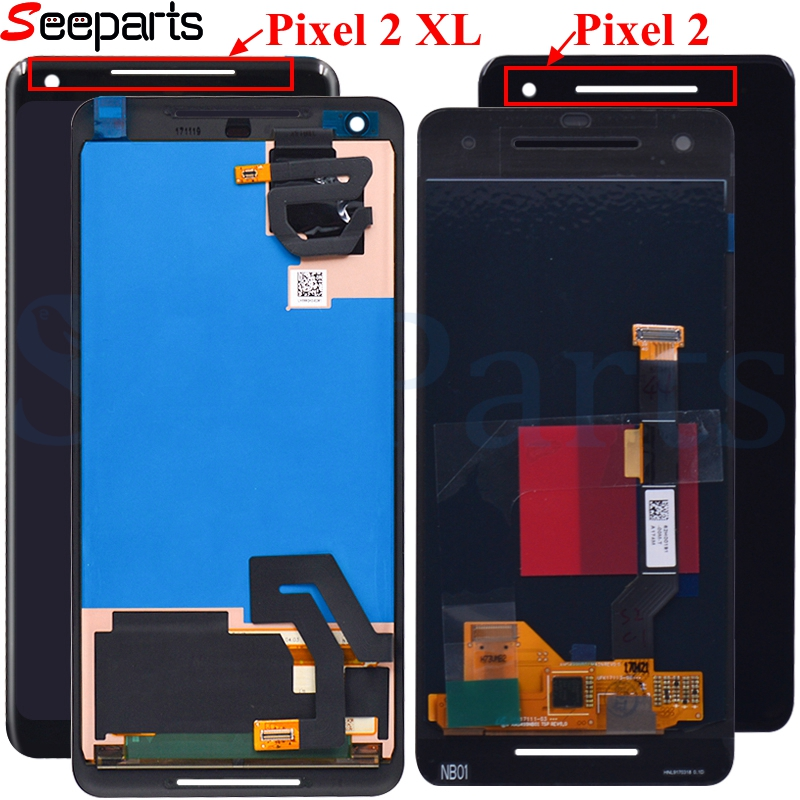 For <font><b>Google</b></font> <font><b>Pixel</b></font> 2 3 3A 4 <font><b>XL</b></font> <font><b>LCD</b></font> Display Touch <font><b>Screen</b></font> Digitizer Assembly Pixel2 Pixel3 Pixel4 <font><b>Screen</b></font> For <font><b>Google</b></font> <font><b>Pixel</b></font> 4 <font><b>XL</b></font> <font><b>LCD</b></font> image