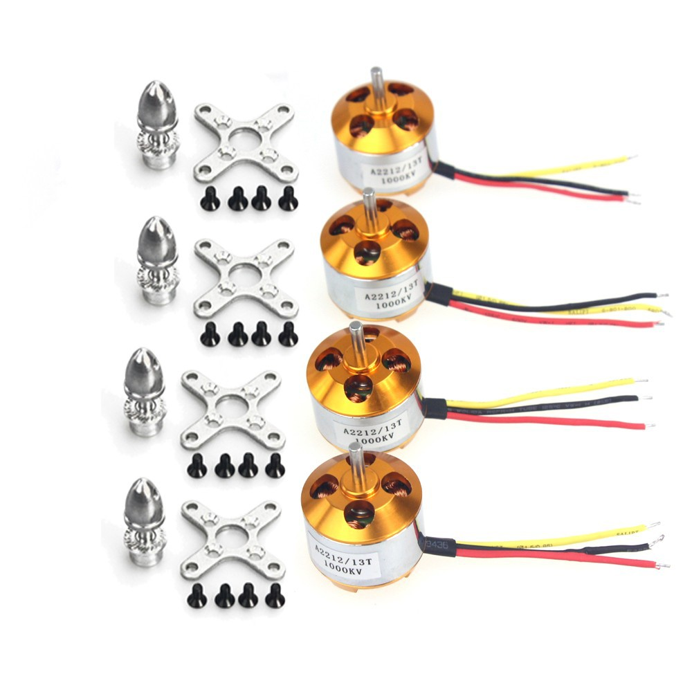 4Sets/lot For RC Aircraft 4 axle Quadcopter UFO A2212 1000KV Brushless Motor + SKYWALKER 20A Brushless ESC F01978-A