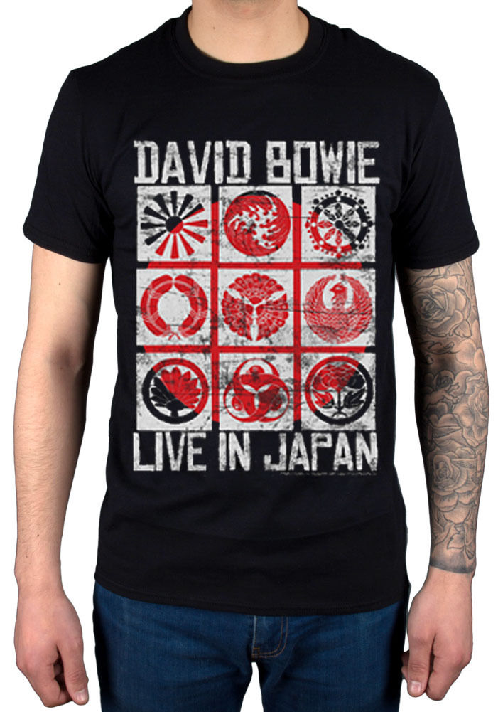David Bowie Live In Japan NEW T-Shirt R.I.P Legend Jagger John Queen