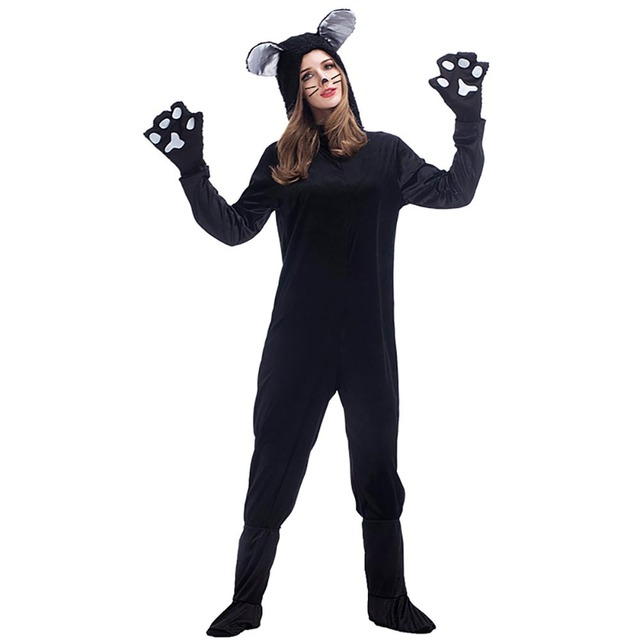 Black Cat Mascot Costume