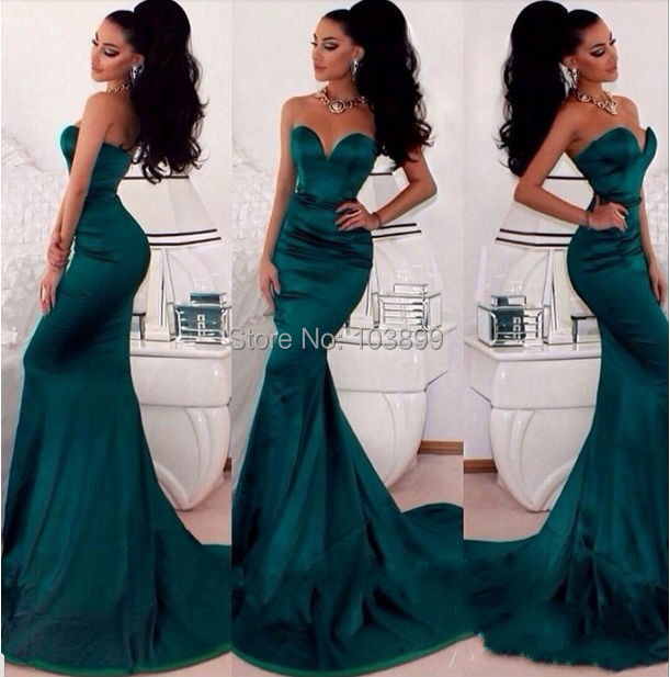 Green Mermaid Prom Dress
