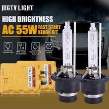 MGTV LIGHT Fast Start HID Bulb Xenon Conversion Kit Car Headlight H1 H3 H7 H4 H11 HB4 9006 9012 D2H 6000K 4300K 55W Ballast 12V