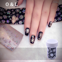 1pcs Christmas Snowflake Holographic Nail Foils Fashion Nail Art Transfer Sticker Paper Manicure Tools 4cm*120cm