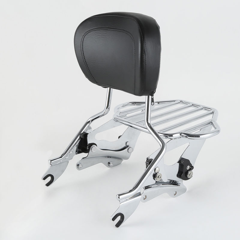 Collection Here Motorcycle Sissy Bar Luggage Rack Backrest & Docking Kit For Harley Touring Road King Street Glide Special 2014-2020 2019