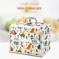 Cartoon Medicine Bandage Box Outdoor Medical Bag Travel Camping Hike Kamp First Aid Kit Family Car Emergency Survival Kit Box