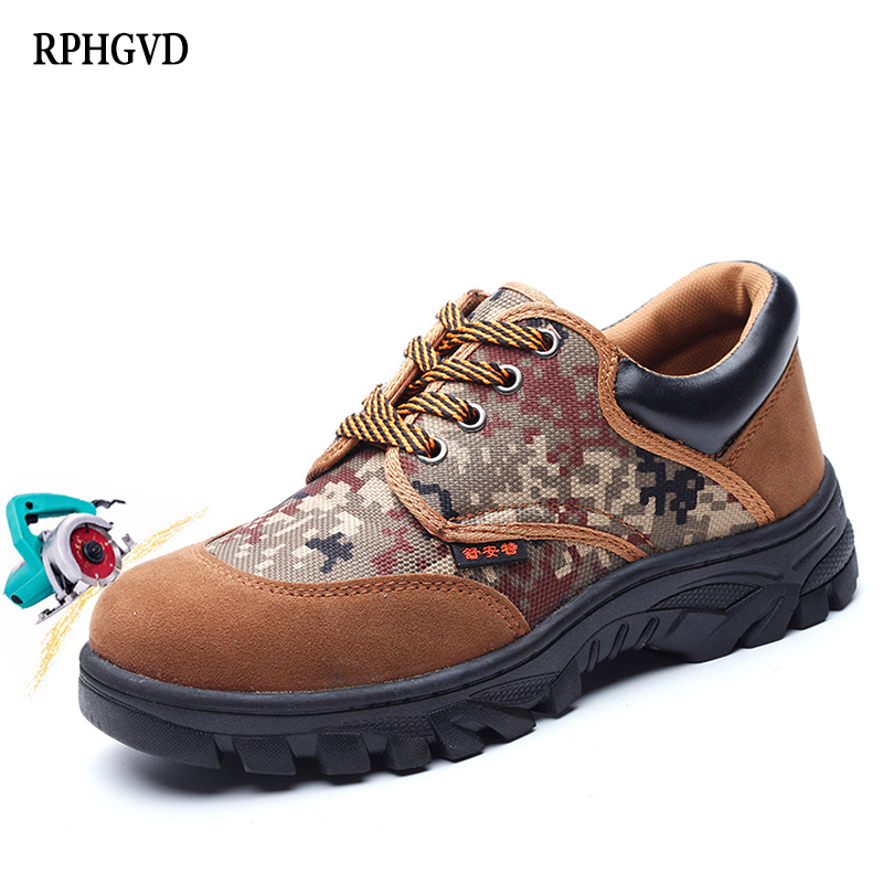 Labor Insurance Shoes Men Steel Toe Caps Anti-mite Stab Penetration Gas Deodorant Safety Shoes Protective Shoes Site Work Shoes
