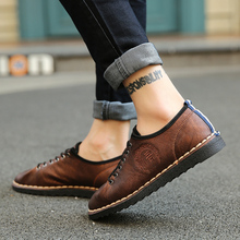 MWSC New Design Chinese Style Man Leather Shoes Breathable Male Breathable Round Toe Leisure Chaussure Homme