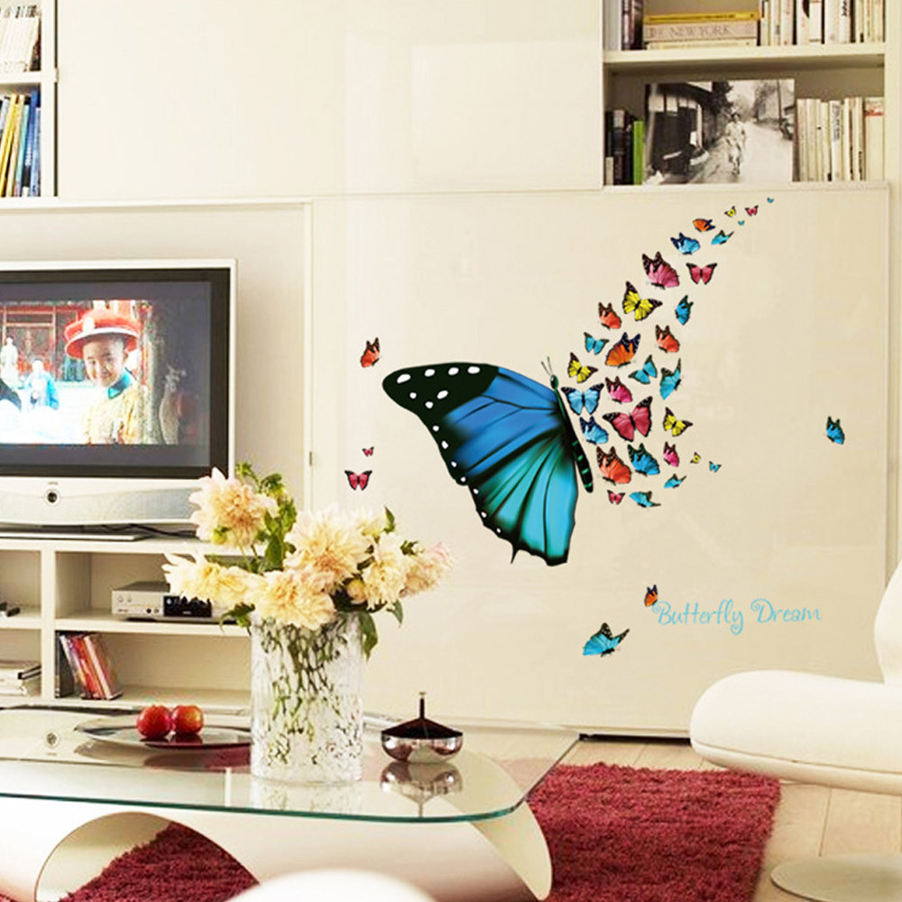 Erfly Design Decal Art Wall Stickers Room Magnetic Home