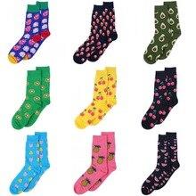 new harajuku socks for women men girl boys funny socks embroidery fruit apple cherry Kiwifruit Cactus avocado pattern art socks