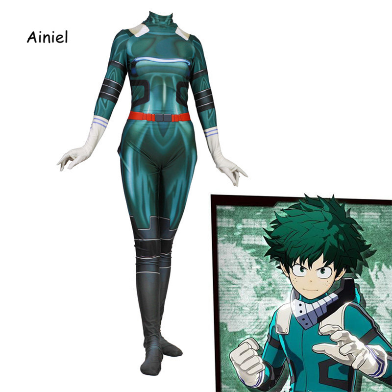 Ainiel My Hero Academia  Midoriya Izuko Deku Cosplay Costumes Men Women Girls Zentai Suit Halloween Bodysuit for  Kids Adult