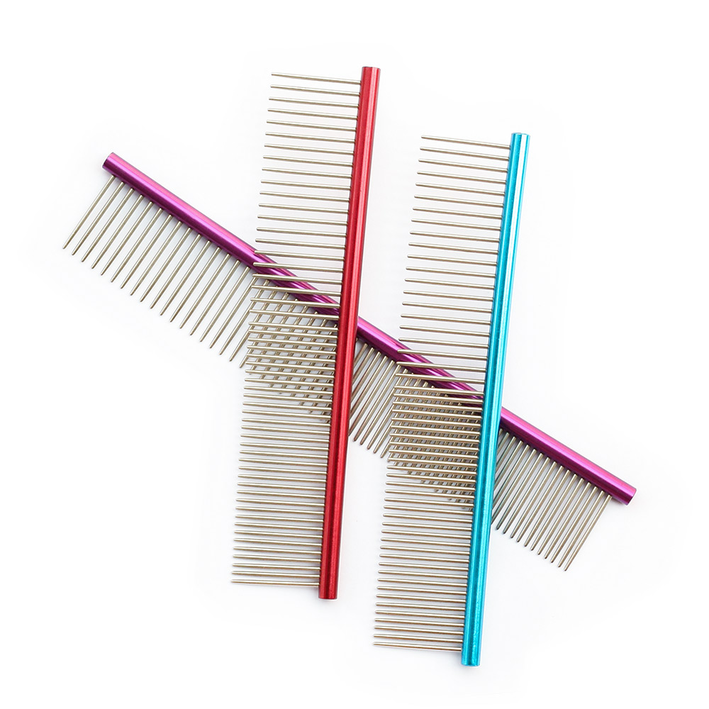 Multicolor Bunte Pet Hair Trimmer Comb 6062002 Hund Katze Pflege Dressed Haar Kamm Anti-Static Comb Straight Row