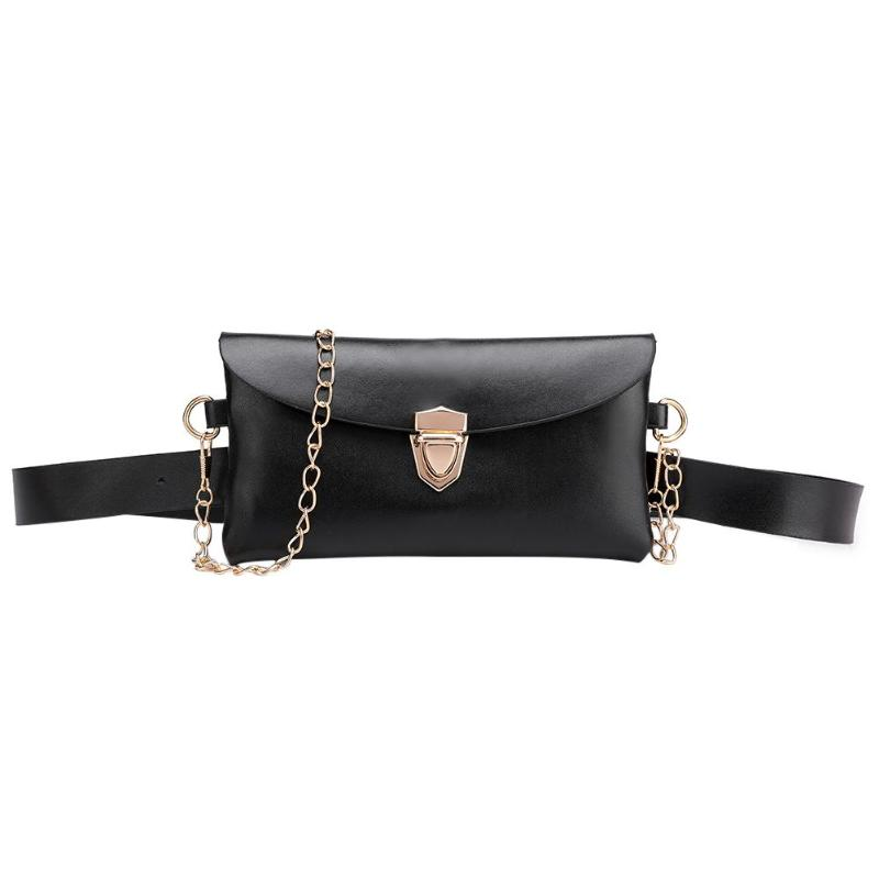 New Chain Waist Bags Women PU Leather Fanny Packs Shoulder Bag Phone Pouch Fashion Snake Print Belt Bag Wallet Purse For Ladies