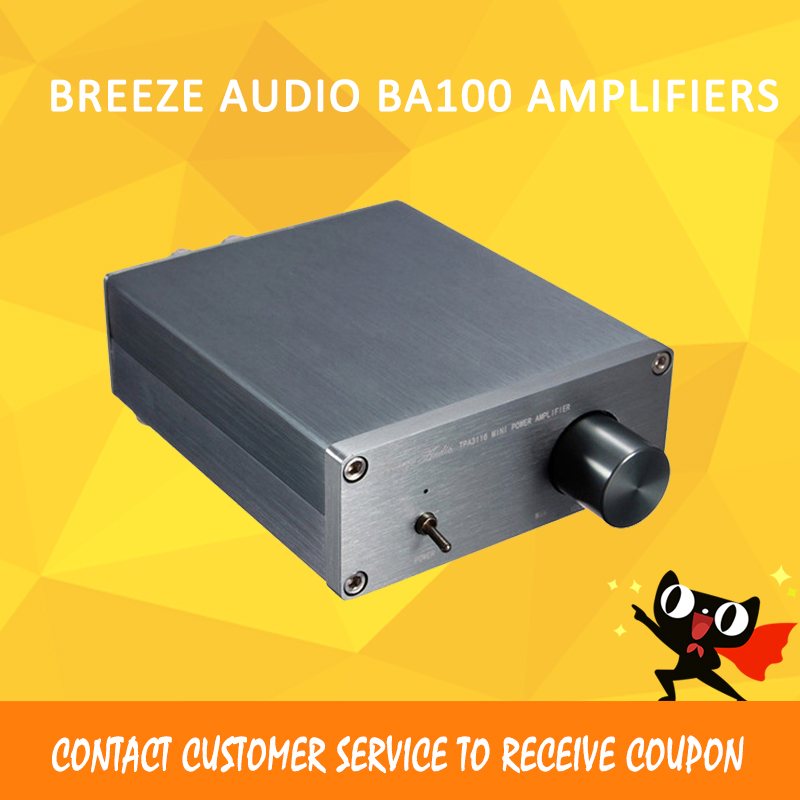 Breeze Audio BA100 class d amplifier audio hifi power mini amplifier tpa3116 portable audio amplifier 50W amplifiers