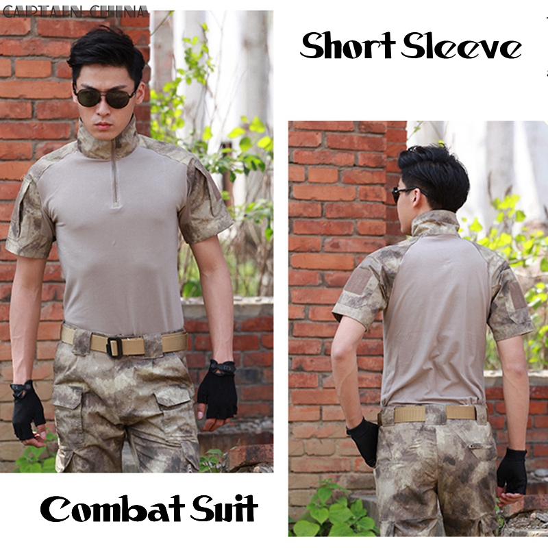 Summer Tactical Camouflage Army Combat Suit Men Typhone Military Uniform Short Sleeve Militar Airsoft Paintball Uniform Set стоимость