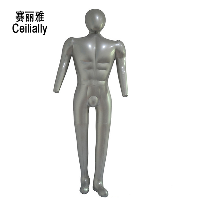 male pvc mannequin manikin full body model with arm clothes display