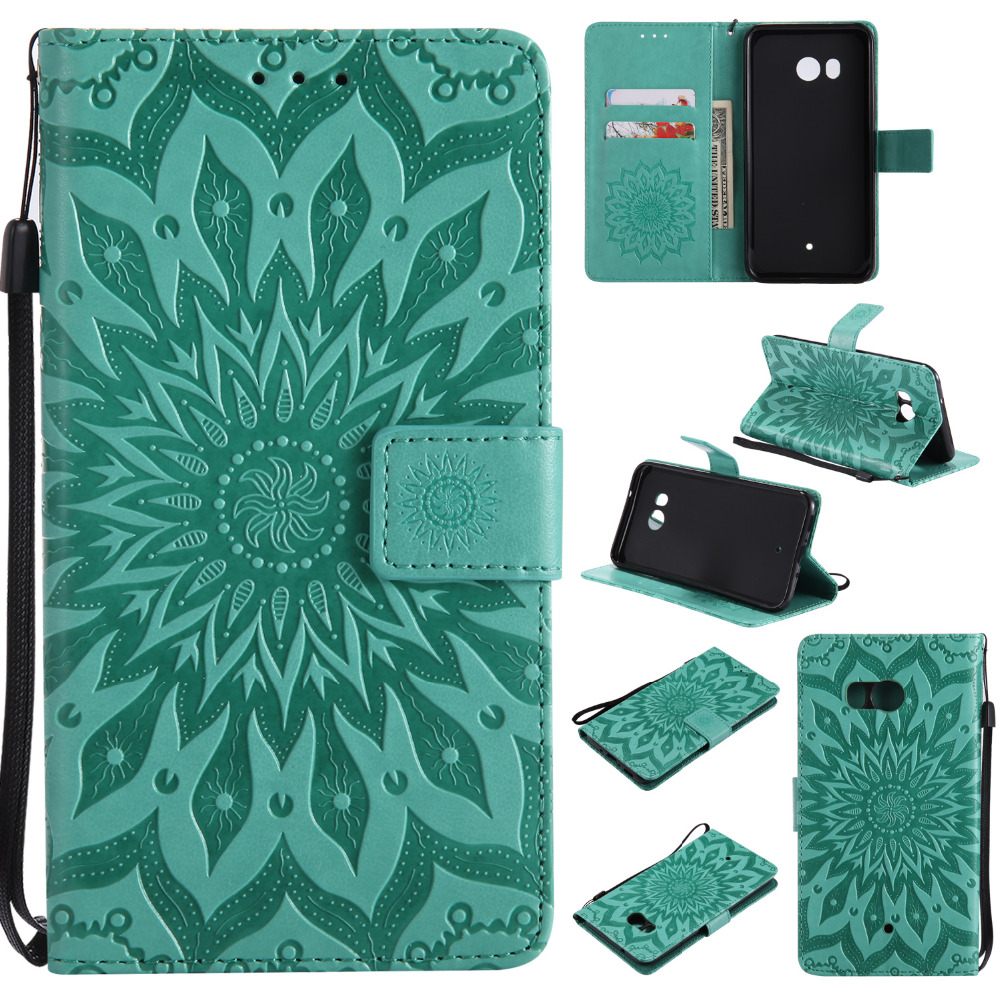 10 Pcs/Lot Sunflower Case Support For Xiaomi Nokia Oneplus Asus ZTE Wiko Google HTC Etc Series Phone Shell Flip Cover Wholesale