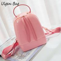 Candy Color Summer Jelly Backpacks Waterproof PVC School Bags Plastic Silicone Women Shoulder Bags Girls Backpack