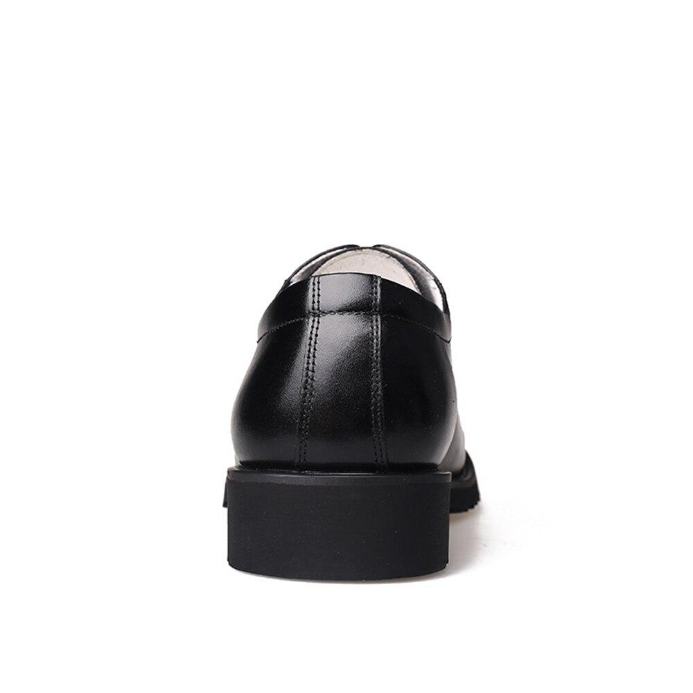 Chaussures Grande Oxford Confortable Qffaz 46 38 Taille Robe Hommes Black Business Beau Formelles TxwwA16
