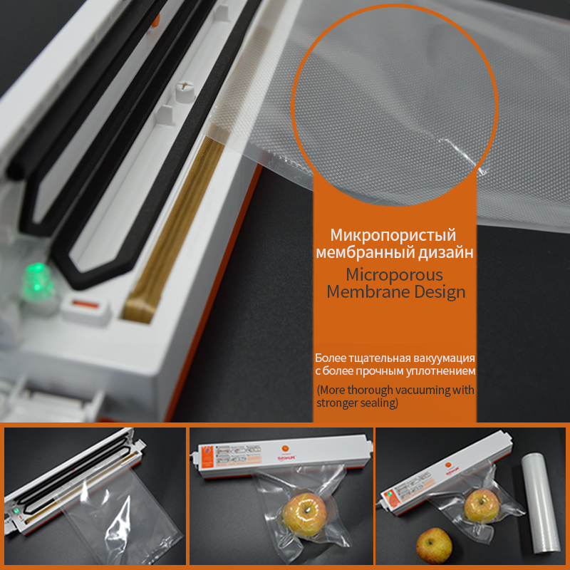 TINTON LIFE 25cm*500cm 2 Rolls/set Vacuum Sealer Storage Bags Grade for Sous Vide and Foodsaver