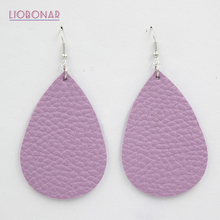 New Arrival Leather Earrings Soft Leather Red Teardrop Earrings Lightweight Leather Earrings For women ladies young girls bijoux