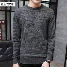 New Autumn Winter Men Knit Sweater O Neck Fashion Solid Color Male Sweater Pullover Men 2017 Male Brand Casual