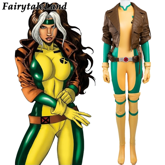 Us 105 16 2017 X Men Rogue Cosplay Costume For Adult Women Halloween Costumes Superhero Women Sexy Leather Jumpsuit Custom Made On Aliexpress Com