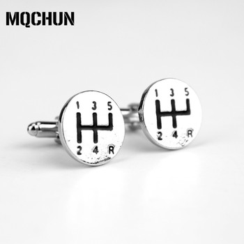 Hot Sale Popular Automobile Transmission Gear Cufflinks Male French Shirt Cuff Links for Men's Jewelry Gift-20 image
