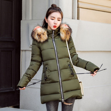 2018 New Arrival Winter Jacket Women Fur Collar Hooded Warm Thicken Female Slim Long Parkas Coats Women Cotton Padded Outwear 2018 new arrival winter jacket women fur collar hooded warm thicken female slim long parkas coats women cotton padded outwear