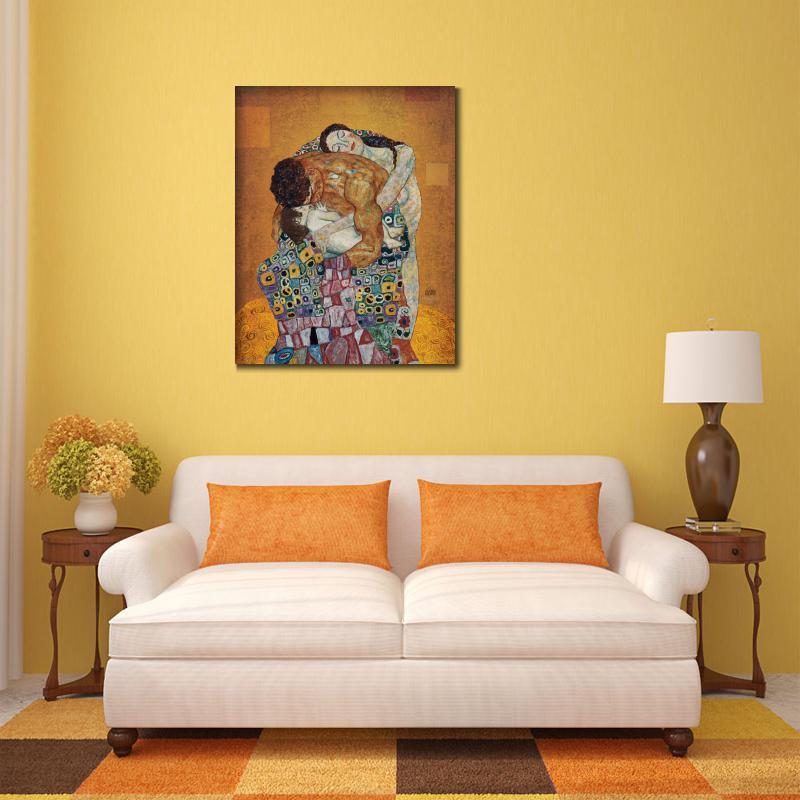 Спальня Холст Искусство портрет маслом семья картина Густава Климта репродукция высокое качество ручная роспись