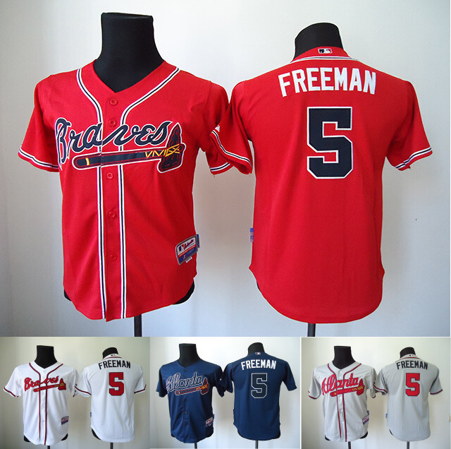 new arrival bd573 c0710 5 Freddie Freeman Youth Jersey Atlanta Braves Kids Freddie ...