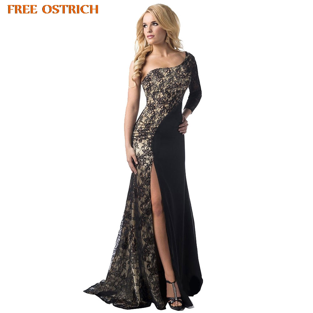 FREE OSTRICH Hot Fashion Women Black Patchwork Formal Long Sleeve Ball Prom Gown Dress Popular Women Dresses Summer 2019 New Рубашка
