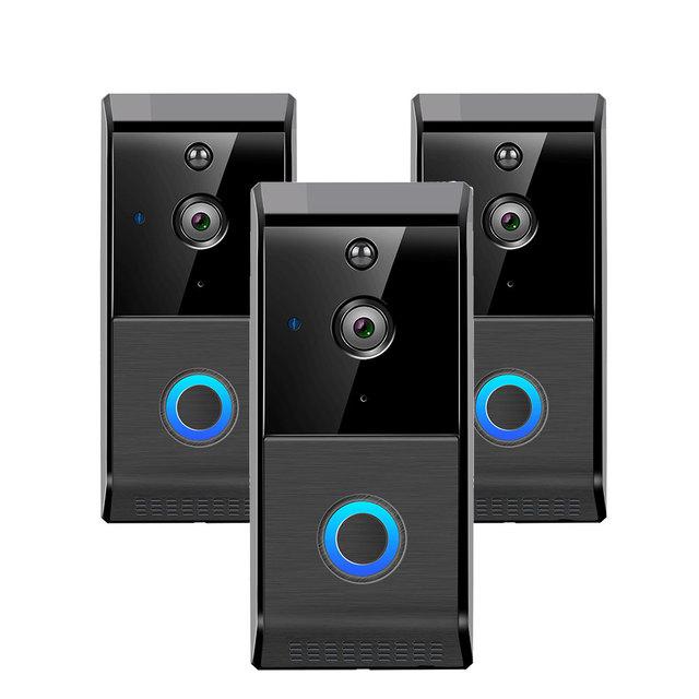 New Geeklink Wireless Smart Video Door Phone IP WiFi Doorbell Camera Pir Motion Detection Night View Video For Smart Home