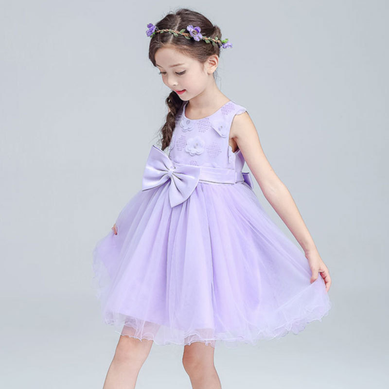 YNB Brand Little Girls Dress Kids Bowtie  Princess Dresses for Girls 2017 Summer Sleeveless Baby Girl Dress Children Clothes утюг tefal fv 9640