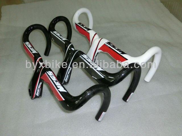 free shipping! bike part carbon handlebar & 3k weave, NESS, glossy /matte, 380g+/-15g. red/ white/black