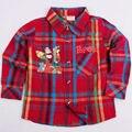 Розничная мальчика рубашка с длинным рукавом футболки для мальчика одежда красный цвет бренда novatx дети футболка весна письмо дети рубашка