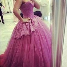 Elegante Abendkleider Spitze Top Ballkleid Schatz Korsett Prinzessin Abendkleid 2016 Longos Vestidos De Noite