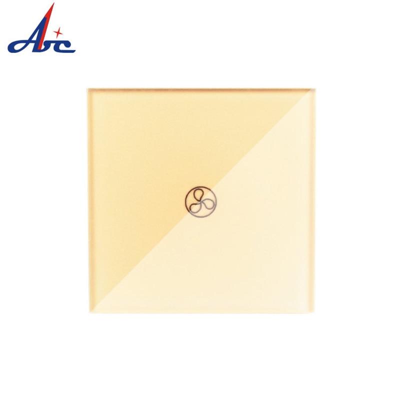 UK Standard 1 Way Fan Switch 1 Gang I Way 110VAC/220VAC 86*86*33mm Crystal Glass Panel PC Bottom Case Remote Touch Fan SwitchUK Standard 1 Way Fan Switch 1 Gang I Way 110VAC/220VAC 86*86*33mm Crystal Glass Panel PC Bottom Case Remote Touch Fan Switch