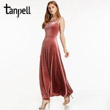 5bfda86ebf21b90 Tanpell бисером Длинные вечернее платье Элегантный бордовый рукавов длиной  до пола линии платья дешевые женские велюр