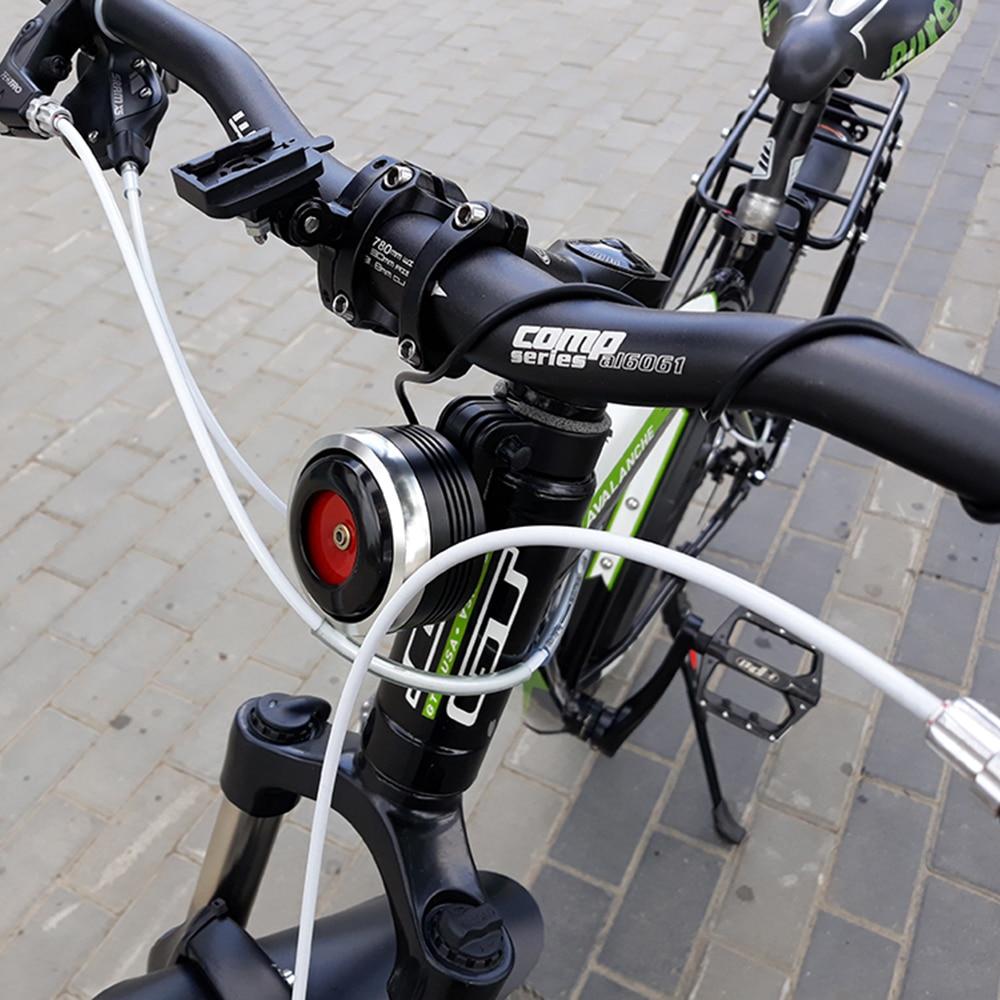 USB Lade Fahrrad Glocke Elektrische Horn Mit Alarm Lauter Ton Horn Ring MTB Rennrad Lenker Radfahren Sicherheit Anti- diebstahl Alarm