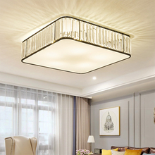 2019 TRAZOS 110v/220V LED Ceiling Lights With Crystal Lampshade For Bedroom Metal Square Lamp Rooms Lighting Fixtures