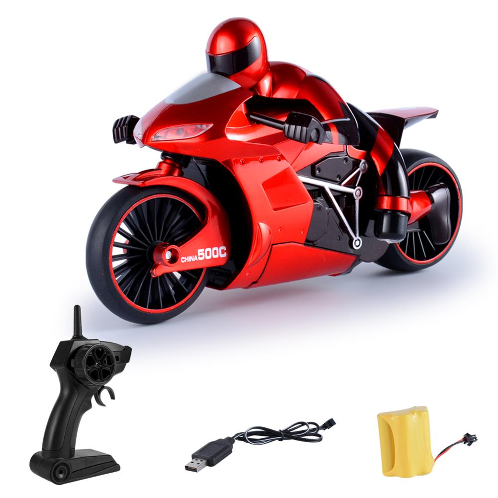 Childrens Toy Simulated Model 2.4G High Speed Drift Remote Control Motorcycle Toys SUV Moto RC