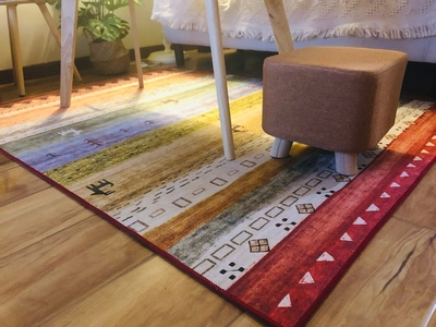 100 wool handmade Kilim style gorgeous bedside carpet living room coffee table carpet decoration ground mat in Carpet from Home Garden