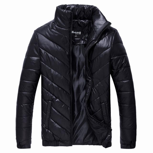 2016 Nuevos hombres de la Chaqueta de Invierno Cálido Abrigo Informal Masculina Del Collar Del Soporte Parkas Hombres Chaquetas de Algodón de Moda Marca de Ropa Térmica LA069
