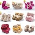 2015 Nueva Moda de Invierno Recién Nacido Bebé Zapatos y Todo Tipo De Unisex Niños Bebés Niñas Prewalker Botas Super Calientes Botines antideslizante zapato