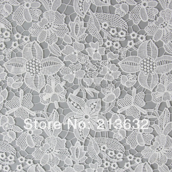 POs33 -18 hollow out embroidered cloth wholesale textiles Computerized embroidery processing fine spot apparel fabrics organza