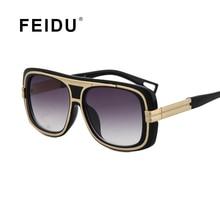 Feidu 2016 new de alta calidad de la manera gafas de sol mujeres diseñador de la marca de gran tamaño clásico retro mujer gafas de sol oculos