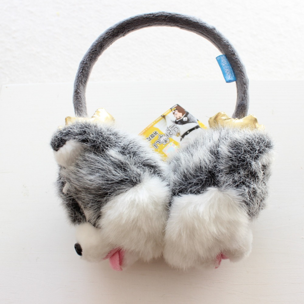 Adjustable Cartoon Winter Warm Ear Muffs Cute Dog Earflap Earmuff For Women Men Kid Childen Parental  Plush Ear Muffs AD0737