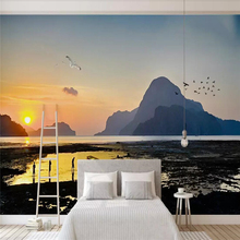 Modern simple  esthetic style background wall