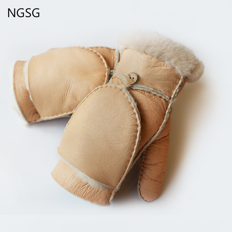 WG007 2017 NGSG New Winter Fashion And Casual Warm <font><b>Gloves</b></font> Mango Color And Yellow Can Be Selected Real Sheepskin <font><b>Men</b></font> WG007