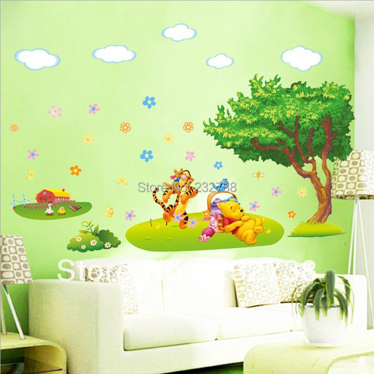 3D Wall Sticker Cartoon Animal Kids Room Wall Stickers Wallpaper For House  Decor PVC Wall Decoration W015 Free Shipping In Wall Stickers From Home U0026  Garden ...